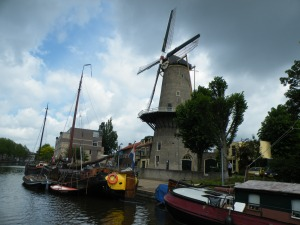 Historic harbour in Gouda
