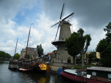 Historic harbour in Gouda